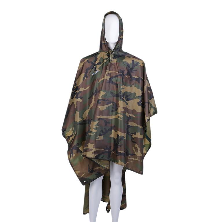Click here to buy 5 Packs ,Green 3 in 1 Multi-function Unisex Raincoat Backpack Raincover Poncho Rainwear Picnic Ground Mat.