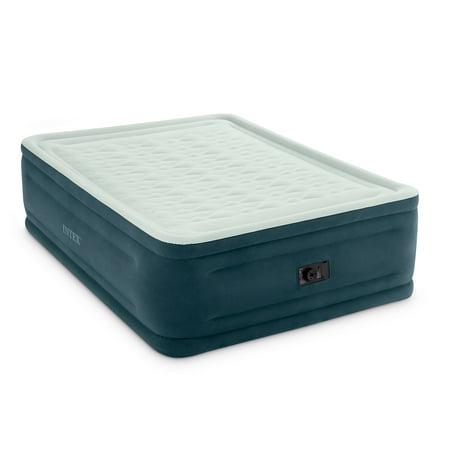 Intex 24u0022 Queen Dura-beam Dream Lux Pillow-Top Airbed Mattress with Internal Pump