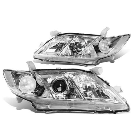 For 2007 to 2009 toyota Camry XA40 Projector Headlight Chrome Housing Clear Corner Headlamp 08