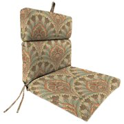 Jordan Manufacturing Outdoor Patio Chair Cushion Crescent Beach Coral