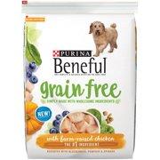 Purina Beneful Grain Free with Farm-Raised Chicken Dry Dog Food, 12.5 Lb.