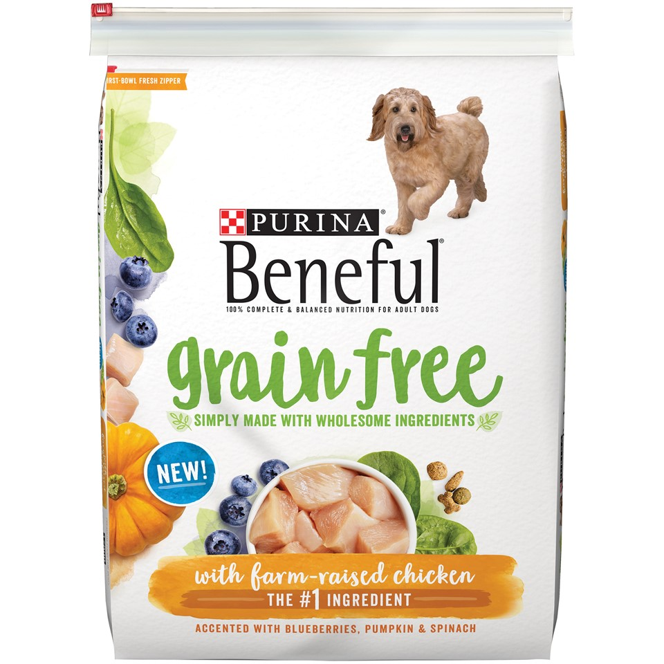 Purina Beneful Grain Free with Farm-Raised Chicken Dry Dog Food, 12.5 Lb.