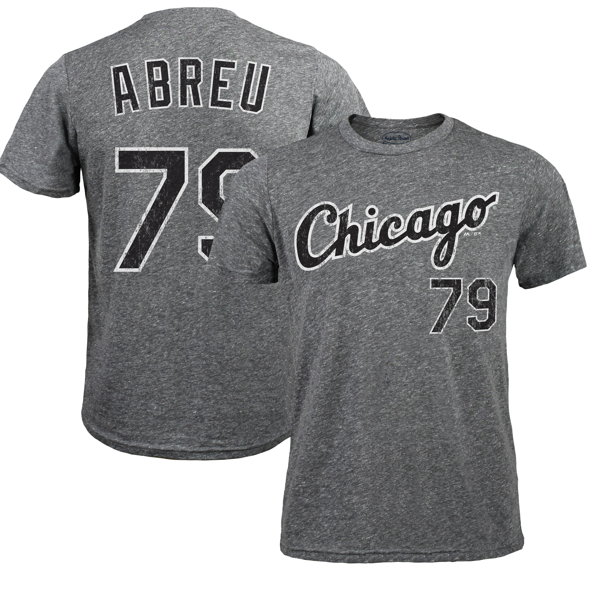 Jose Abreu Chicago White Sox Majestic Threads Premium Tri-Blend Name & Number T-Shirt - Gray