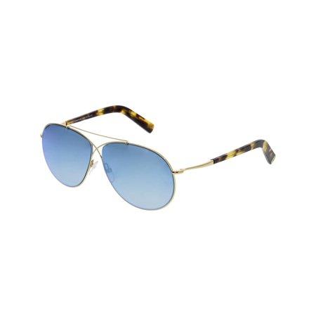 1ac7c27bb05 Tom Ford Mirrored Eva FT0374-28X-61 Grey Aviator Sunglasses - Walmart.com