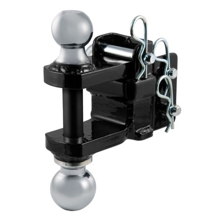 Curt Manufacturing Cur45008 Adjustable Drawbar Dual Welded Balls And Clevis - Drawbar Controller