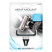 Universal Adjustable Vent Mount for All Cell Phones - Silver
