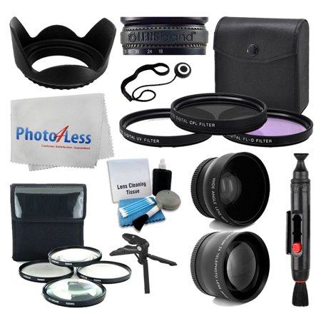 67mm Wide angle + 2x Telephoto Converter + Filter Kit + Macro +More Accesory