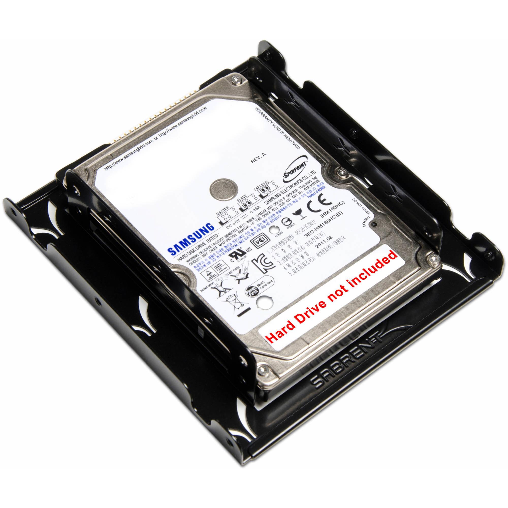 Sabrent 2 5 to 3 5 internal hard disk drive mounting bracket kit bk hddh walmart com