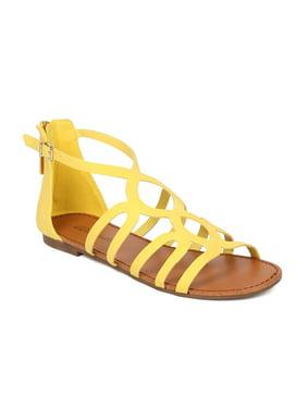 Women Gladiator Flat Sandal - Strappy Sandal - Casual Summer Versatile  Everyday Sandal - HB10 By af2c0b0560