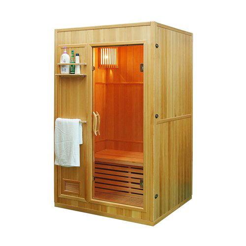 ALEKO SEN2OLT 2-Person Canadian Hemlock Wood Indoor Wet Dry Sauna with 3 KW ETL Electrical... by ALEKO