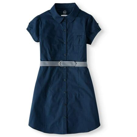 Cheerleader Uniforms For Girls (Wonder Nation Girls School Uniform Shirt Dress (Little Girls & Big)