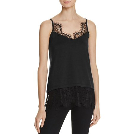 french connection womens swift drape lace trim camisole (French Viscose)