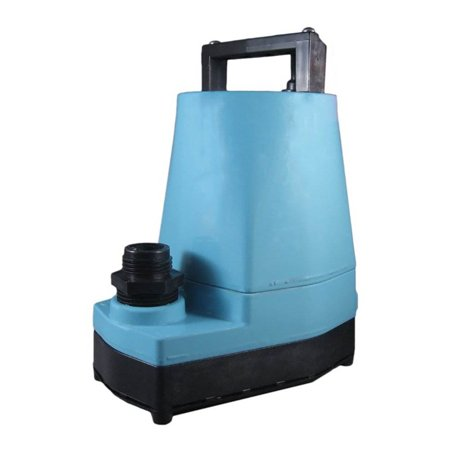 Little Giant 505005 5 MSP 1/6 HP 1200 GPH Submersible or In Line Utility Pump Line Submersible Pump