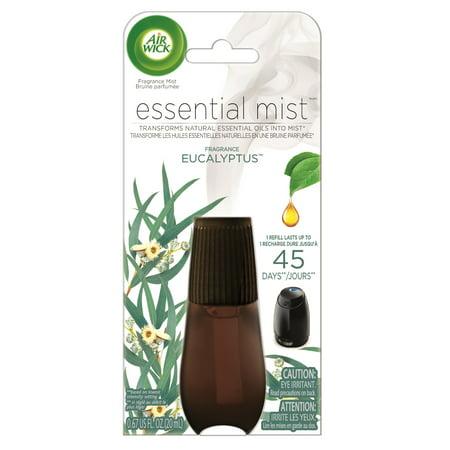 Air Wick Essential Mist, Fragrance Essential Oils Diffuser Refill, Eucalyptus, 1ct, Air Freshener ()