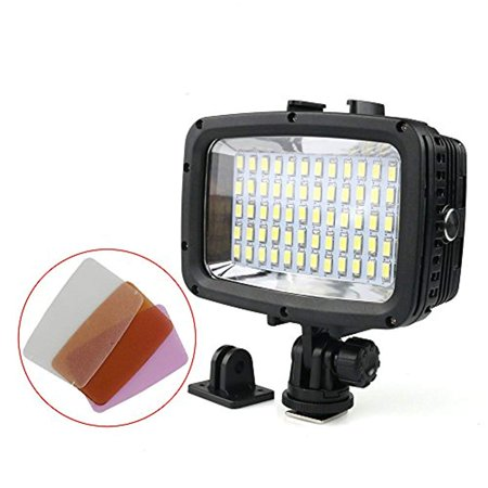 Polaroid Waterproof LED Light  Multi Mode Underwater Camera Light for Scuba, Deep Sea Diving - Compatible with Cameras and Underwater Housings