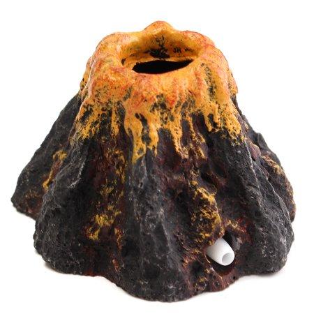 Aquarium Volcano Shape & Bubble Air Stone Oxygen Pump Fish Tank Ornament Decor - image 1 de 7