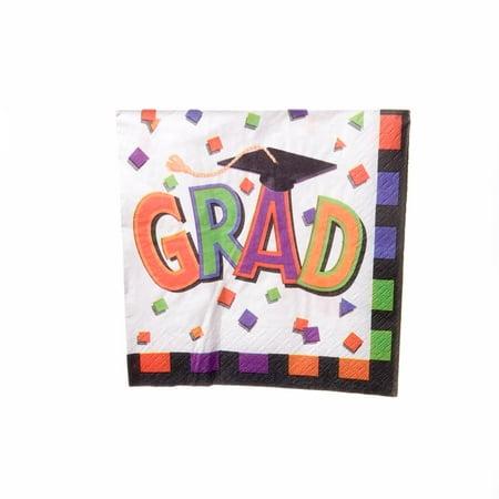 Grad Cap Beverage Napkins - Graduation Napkins