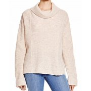 Free People NEW Juniors Size Large L Oatmeal Waffle Knit Wool Pullover $128