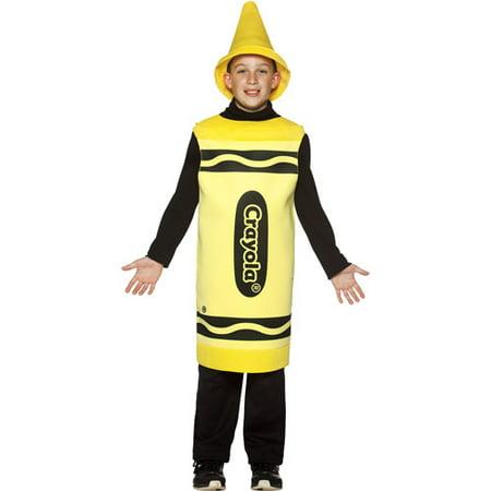 Crayola Yellow Child Halloween Costume, Size: Boys' - One Size