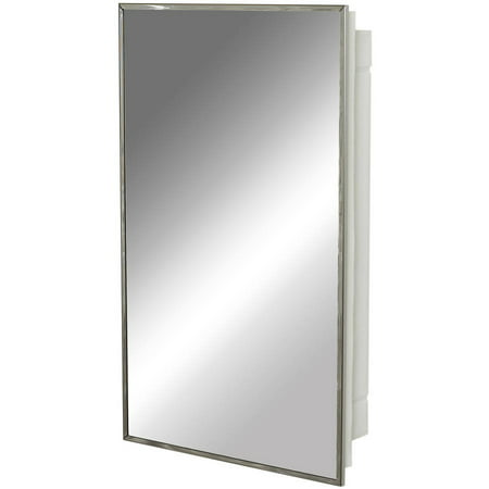 Zenith 105 Stainless Steel Frame Medicine Cabinet (Recessed Medicine Cabinet 14 X 24 Wall Opening)