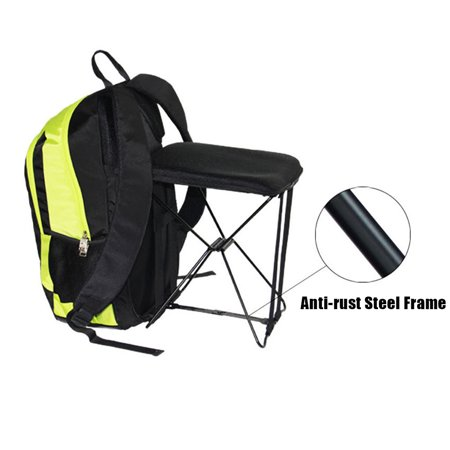 47L Camping Travel Backpack with Folding Chair Backpack and Stool Chair Combo Gear for Outdoor Hiking Fishing - image 6 de 7