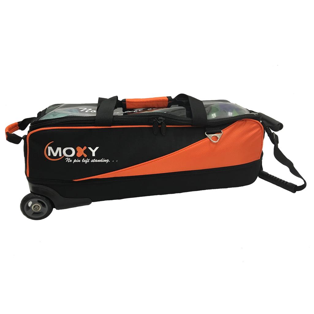 Moxy Slim Triple Roller Bowling Bag- Orange/Black