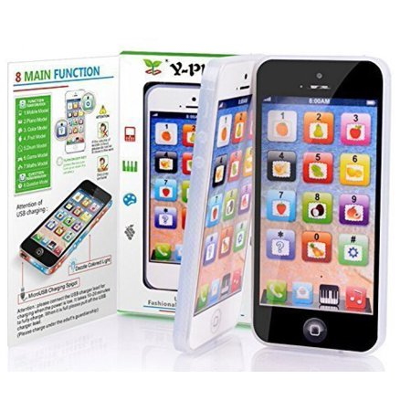 YPhone Kids Play Cell Phone Learning Toy Black