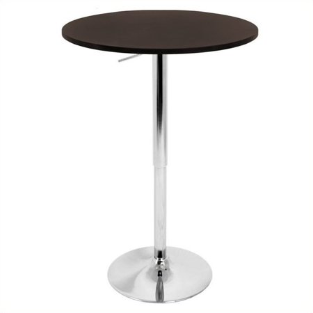 Lumisource Adjustable Bar Table with Brown Top - image 1 of 1