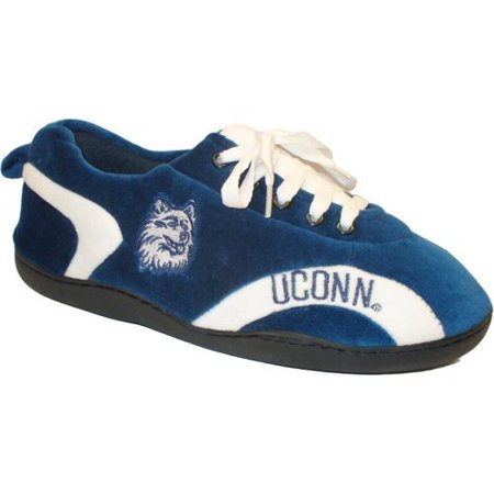 Comfy Feet NCAA All Around Youth Slippers - Connecticut Huskies