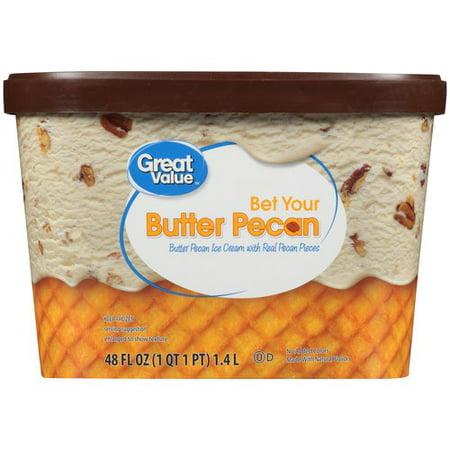 Great Value Butter Pecan Ice Cream, 48 fl oz - Walmart.com