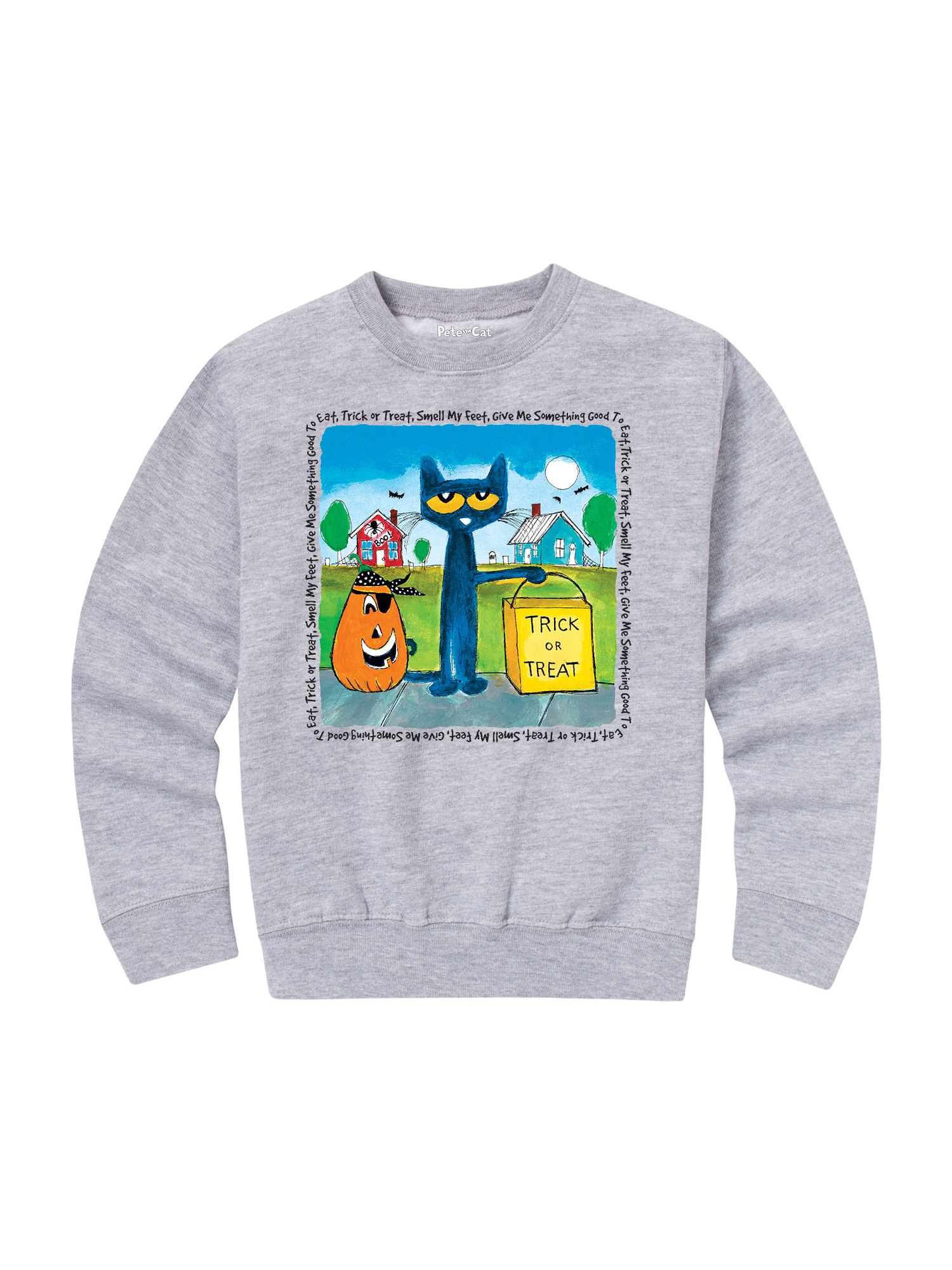 Pete The Cat Trick Or Treat - Toddler Crew Fleece