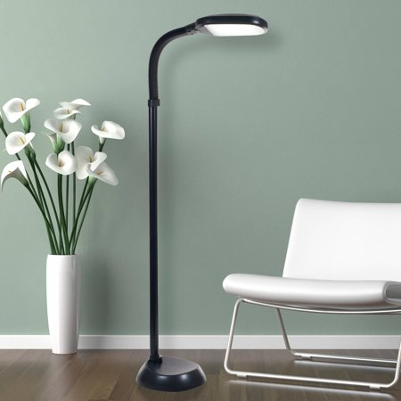 - Lavish Home LED Sunlight Floor Lamp with Dimmer Switch