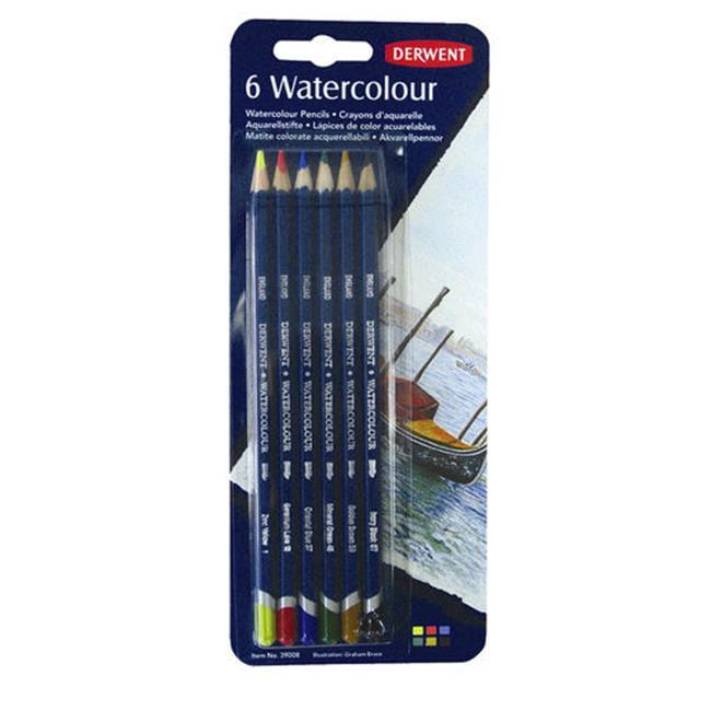 Derwent 39008 Watercolour 6-Pencil Blister Pack