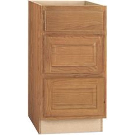 (RSI HOME PRODUCTS HAMILTON DRAWER BASE CABINET, FULLY ASSEMBLED, RAISED PANEL, OAK, 24X34-1/2X24 IN.)