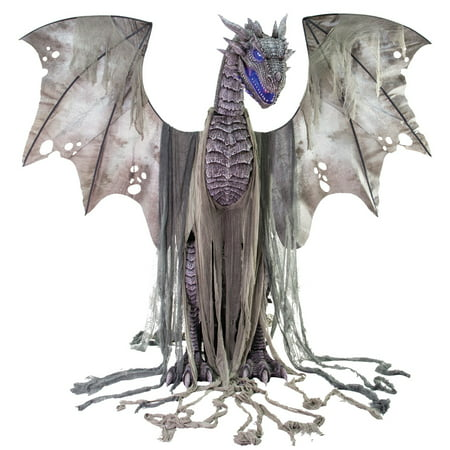 7ft. Winter Dragon Animated Prop Halloween Decoration - Easy To Do Halloween Decorations