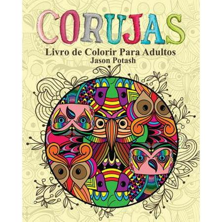 Corujas Livro de Colorir Para Adultos (Trajes De Halloween Para Adultos)