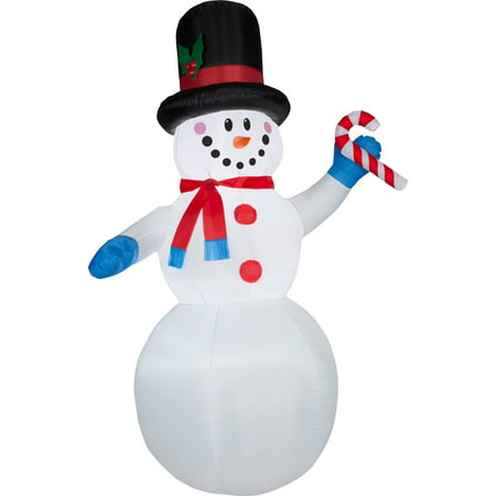 Gemmy Airblown Christmas Inflatables 7'  Festive Snowman](Spongebob Inflatable Christmas)