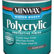 Minwax Polycrylic Protective Finish Clear Satin 1-Qt