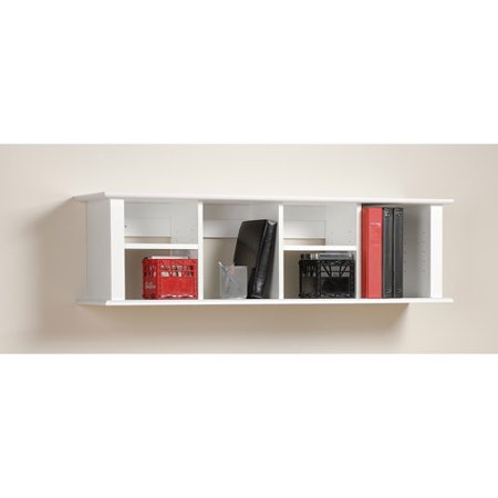 Prepac Wall Hanging Desk Hutch, Multiple Finishes