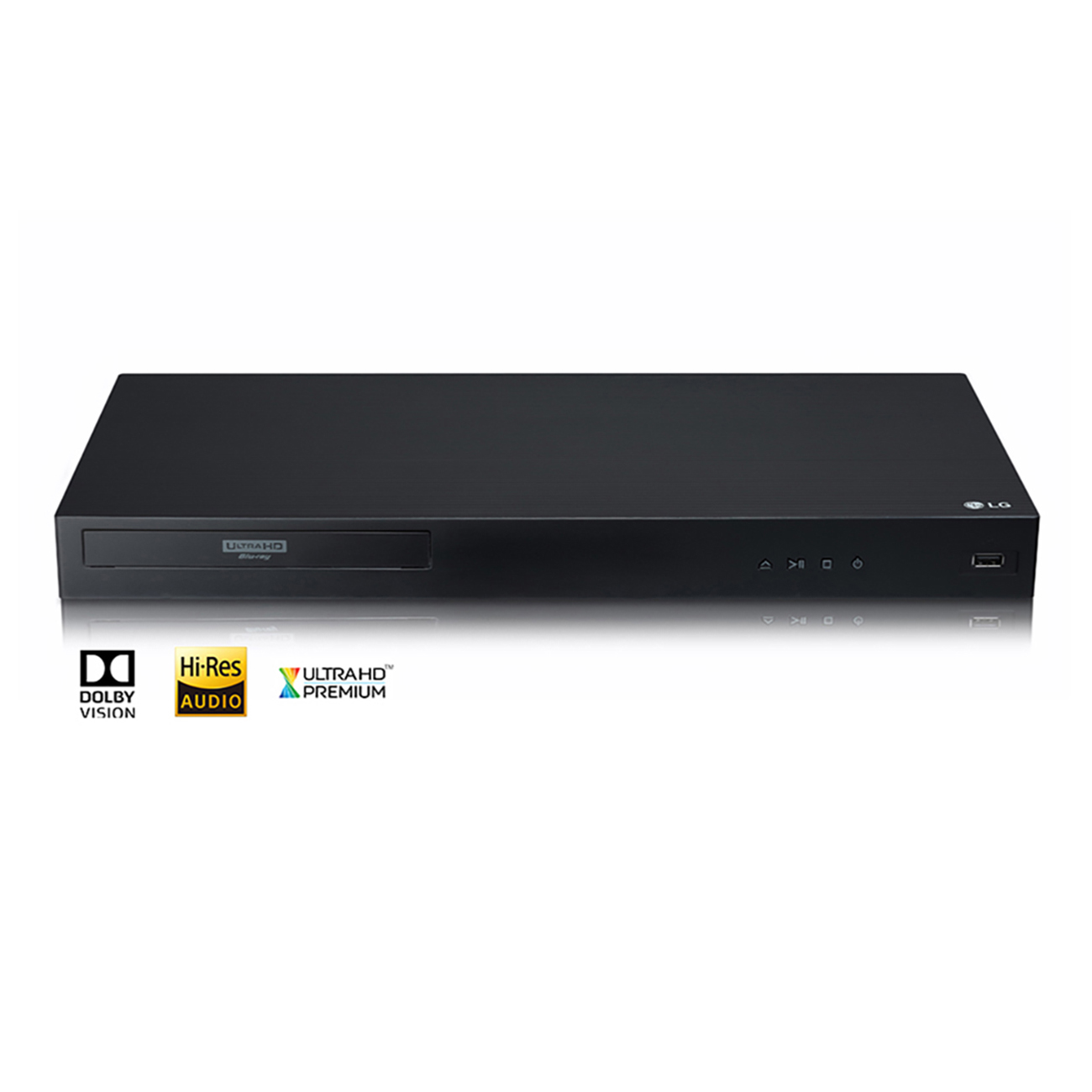 LG UBKM9 Streaming Ultra-HD Blu-Ray Player with Streaming Services and Built-in Wi-Fi®