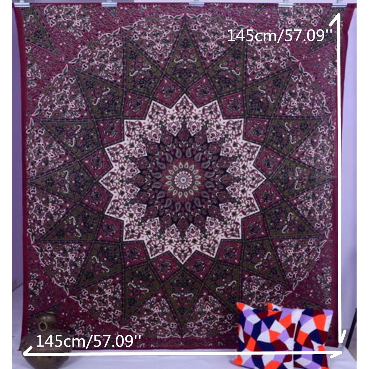 purple Mandala Hippie Tapestry Indian Mandala Wall Hanging Picnic Beach Blanket