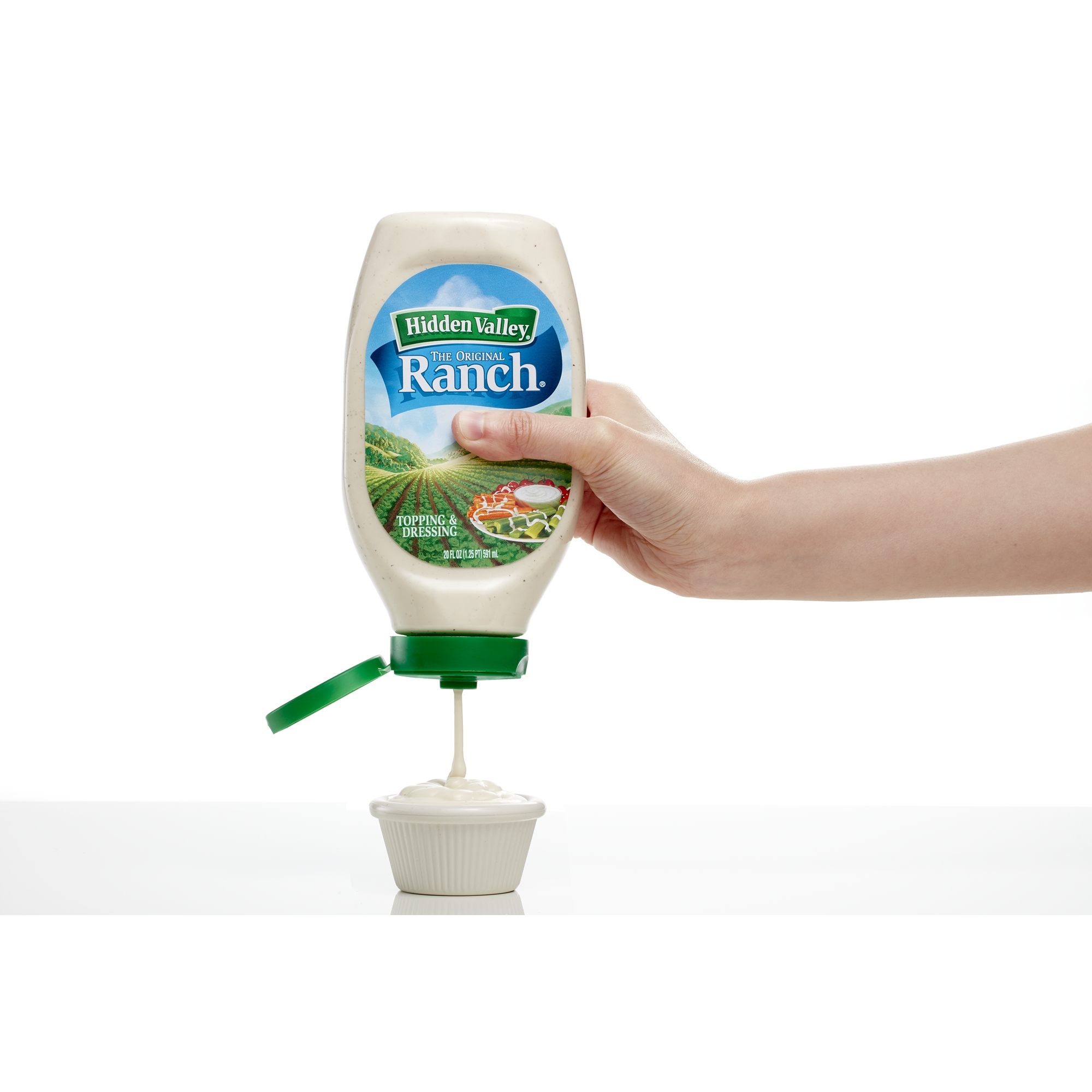 hidden valley easy squeeze original ranch salad dressing topping