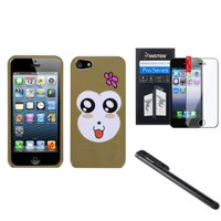 Insten Monkey Joy Hard Snap On Cover Case For iPhone 5S 5 5th+LCD Film+Pen (3-in-1 Accessory Bundle)