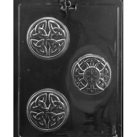 Grandmama's Goodies M240 Celtic Soap Bar Chocolate Candy Soap Mold with Exclusive Molding -