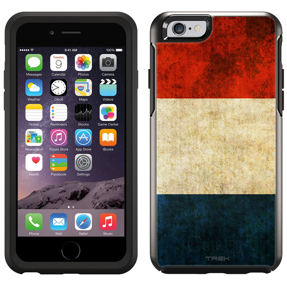 Skin Decal for OtterBox Symmetry Apple iPhone 6 Case Vintage Dutch Flag by Trek Media Group