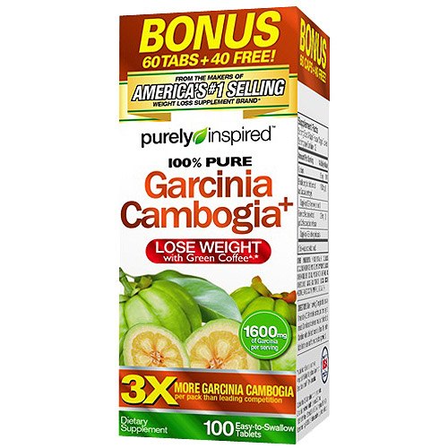 Purely Inspired 100% Pure Garcinia Cambogia Dietary Supplement Tablets, 100 count