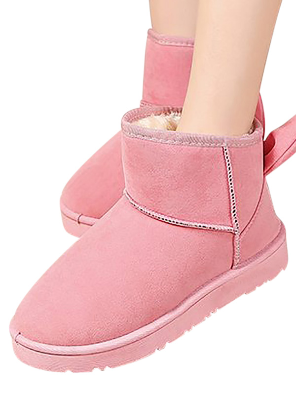 NEW Toddler Girls Faux Fur Buckle Face Winter Warm Booties Zipper Pom Pom Black