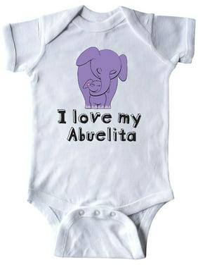 db4484d19 Product Image I Love my Abuelita Elephant Purple Infant Creeper