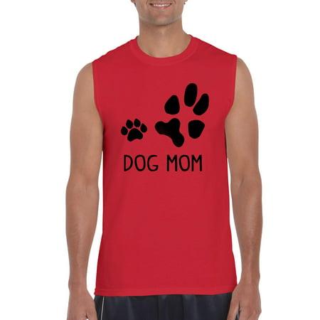 636b3251ddf Artix - Artix Dog Mom Ultra Cotton Sleeveless Men s T-Shirt XXX-Large Red -  Walmart.com