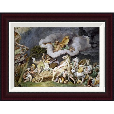 Global Gallery Diomede Uccide Tideo By Giulio Romano Framed Painting Print